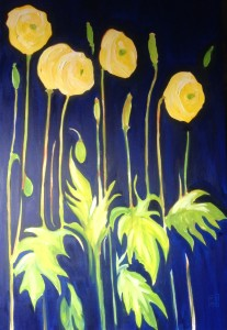 Yellow poppies.